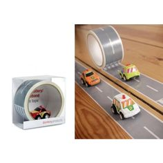 """From German Toy Maker, Donkey, """"My First Autobahn"""" is tape kids can use to make race tracks for their cars! €12"""