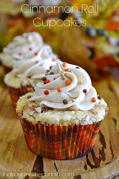 Cinnamon Roll Cupcakes by Lady Behind the Curtain