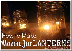 how to make mason jar lanterns northerncottage.net