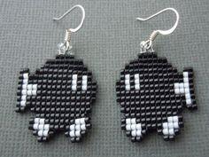 Handmade Bobomb Seed Bead Earrings by Pixelosis on Etsy, $25.00