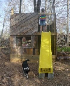 cubby with slide   The Enchanted Tree: Natural Play Space.