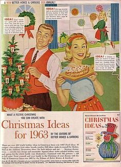 Better Homes and Gardens Magazine Ad: Christmas Ideas For 1963