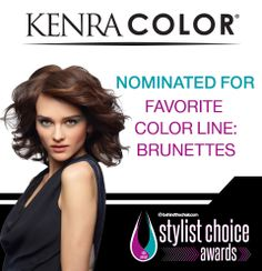 Kenra Color was nominated for Favorite Color Line: Brunettes in the 2014 Stylist Choice Awards! kenra color