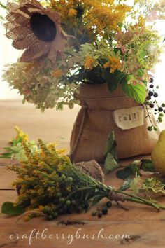 Craftberry Bush: Burlap Sunflower Tutorial