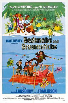 Bedknobs and Broomsticks, great childhood movie memory! disney movies, childhood movi, bedknobs and broomsticks, disney movie posters, broomstick 1971, disney posters, kids, film 1971, disney films