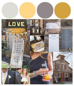 Grey & Gold Color Inspiration