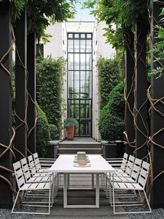 Tall and narrow outdoor space but stunning
