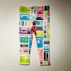 "Mix Tape Leggings for your kids. Who will be like, ""what are these things?"" organic cotton"