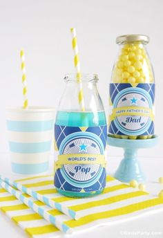 FREE Father's Day Printables by BIrd's Party #free #printables #partyprintables #fathersday #dad #bottle #wrappers #freebies #pop #freeprintables #party #father