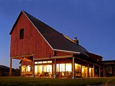 Modern farmhouse.