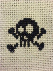 free cross stitch skull and crossbones