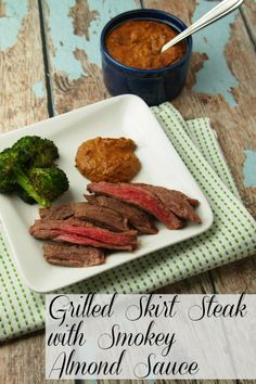 Grilled Skirt Steak with Almond Sauce Recipe