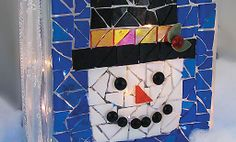 Crafts n' things Weekly - happy snowman luminary