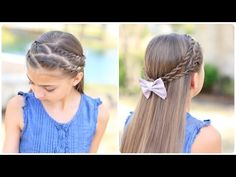 How To Create Zig-Zag Twistbacks | Cute Girls Hairstyles