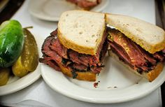 You can't go wrong with a classic  corned-beef or pastrami from Katz's Deli in NYC's Lower East Side