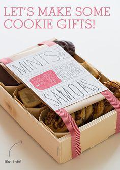 sur ce post, vous trouverez de délicieuses recettes de cookies, mais aussi des idées d'emballages et les imprimables nécessaires : il ne vous reste qu'à vous mettre aux fourneaux pour de jolis et délicieux cadeaux !