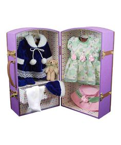 Take a look at this Purple Doll Wardrobe Set by The Queen's Treasures on #zulily today!