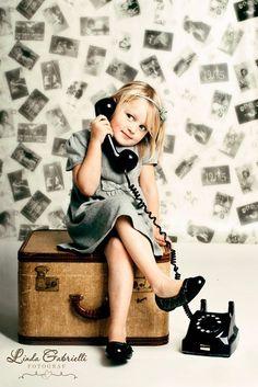 vintage phones, vintage suitcases, vintage photos, photo props, photo shoot, vintage luggage, photo idea, photography props kids, vintage inspired