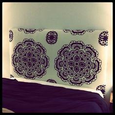 bedding, curtains, polka dots, tablecloth, anthropologie, diy headboards, linkdiy headboard, upholstered headboards, jewelry holder