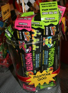 Candy table....Monster Goo