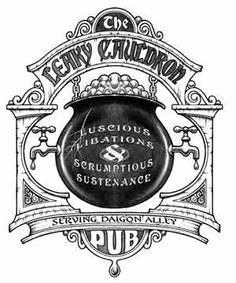 concept art for Leaky Cauldron