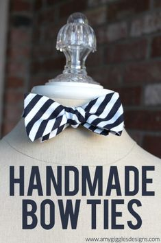 Handmade Bow Ties DIY Tutorial