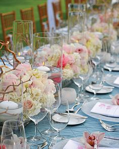 Beach wedding center pieces