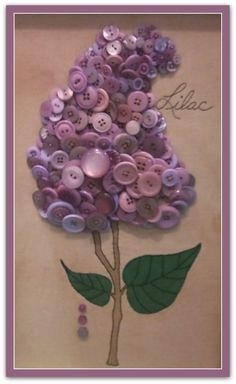 Lilac Button Art (or hydrangea)