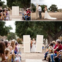 Great ideas for your outdoor wedding- wedding ceremony doors for aisle entrance