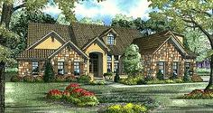 Tuscan Style House Plans - 3003 Square Foot Home , 1 Story, 5 Bedroom and 4 Bath, 3 Garage Stalls by Monster House Plans - Plan 12-881
