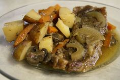 Day 12: Crockpot Steak & Potatoes -- Absolutely our FAVORITE recipe. We eat this once a week and it's truly amazing. Very simple recipe and smells great when cooking.