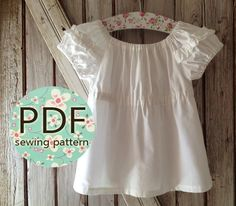 Sweet Cheeks - Peasant Top Pattern PDF. Girl's Sewing Pattern. Girl's Top Pattern. Toddler Top Pattern sizes 1-10. $7.50, via Etsy.