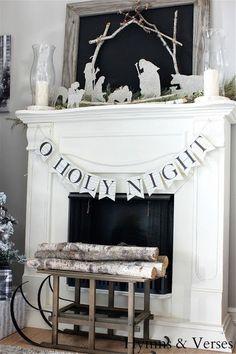 Beautiful Christmas mantel!