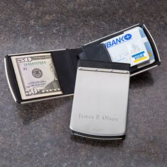 Zippo money clip with RF theft resistant technology to protect your credit cards