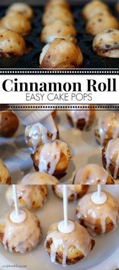 roll cakes, cake pop pan recipe, cinnamon rolls, cake pops, brunch