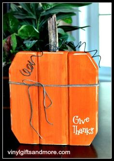 Kit - Wood Pumpkin- This is SOOOOO cute!  Perfect decoration for my front porch.