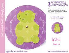 Invitacion con diseño de rinoceronte