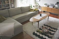 couch: ikea kivik in teno light grey