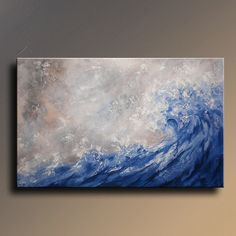 Original Acrylic Abstract Painting on Canvas Landscape Seascape Contemporary Textured  Modern Art Wall Hanging wall decor for your home via Etsy