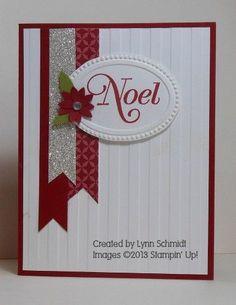 striped embossing folder, oval designer frame, silver glimmer paper; boho blossom flower