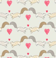 Squirrel Love by Sian Keegan #pattern #illustration