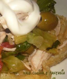 insalata di pollo in cestini di grana