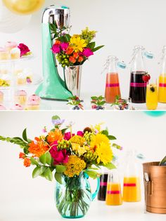 Deck out your brunch party with fresh florals.