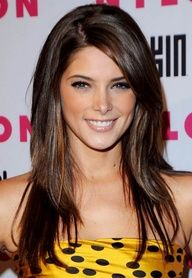 Ashley Greene's long hair with layers
