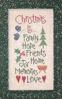 Lizzie Kate Christmas Is... Cross Stitch Chart