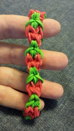Strawberry bracelet...a variation on the pumpkin bracelet.