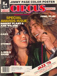 Ann Wilson and @Stephen Bruns - Man and Woman of the Year for Circus in 1979. pic.twitter.com/SJE6PYDI1f