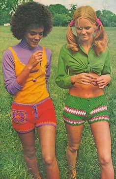 1970's crochet fashion