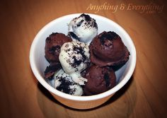 Oreo Truffles: using only 3 ingredients; oreo cookies, cream cheese, and chocolate. cooki