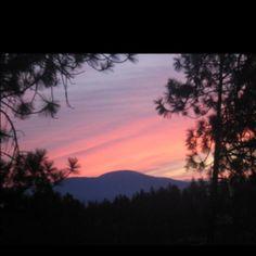 Sunrise over Mt Spokane